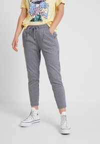 ICHI - KATE STRIPY TROUSERS - Trousers - total eclipse - 0