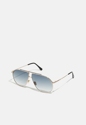 RILEY UNISEX - Sunglasses - shiny rose gold-coloured/smoke