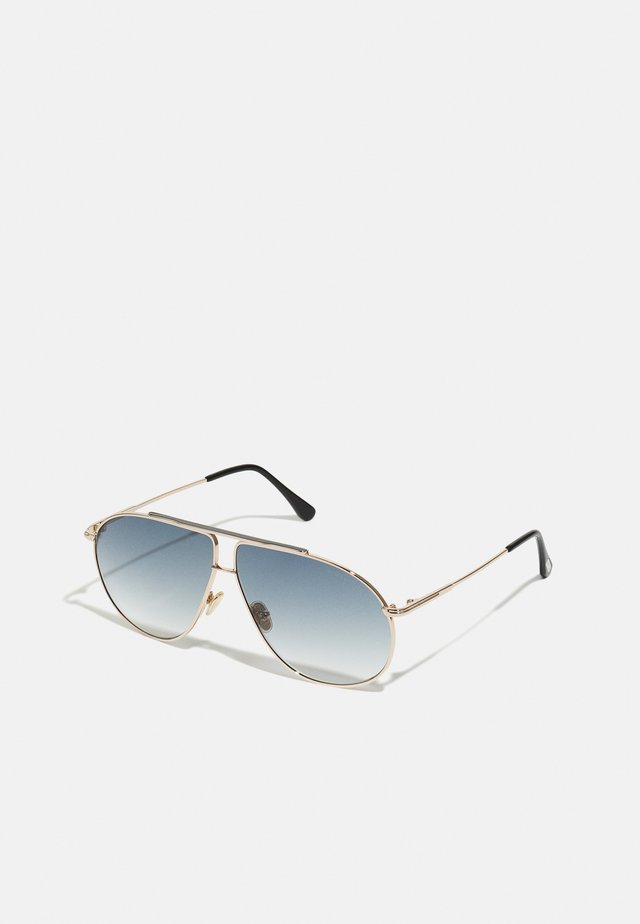 RILEY UNISEX - Zonnebril - shiny rose gold-coloured/smoke