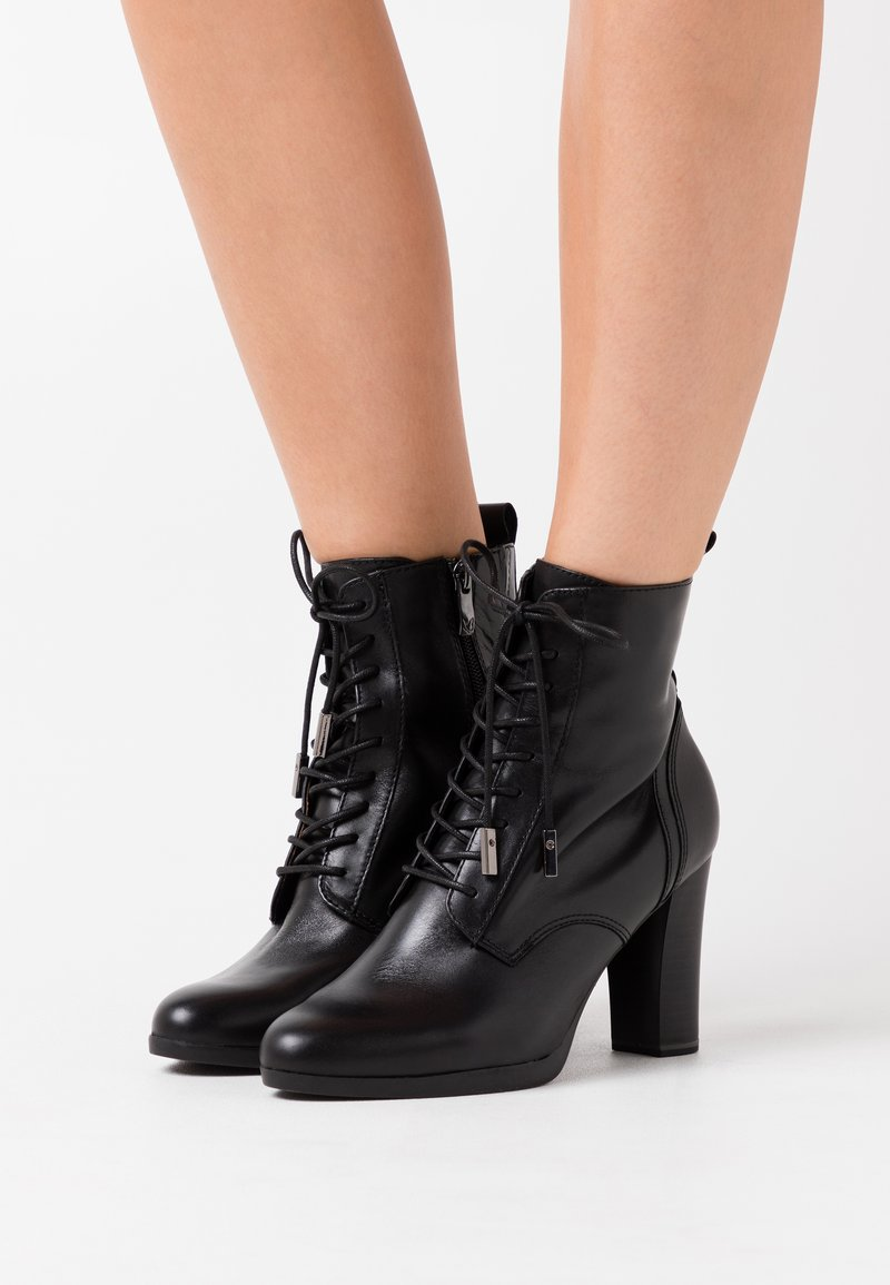 Caprice - BOOTS - High heeled ankle boots - black