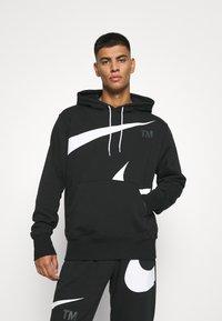 Nike Sportswear - HOODIE - Sudadera - black/(white) - 0