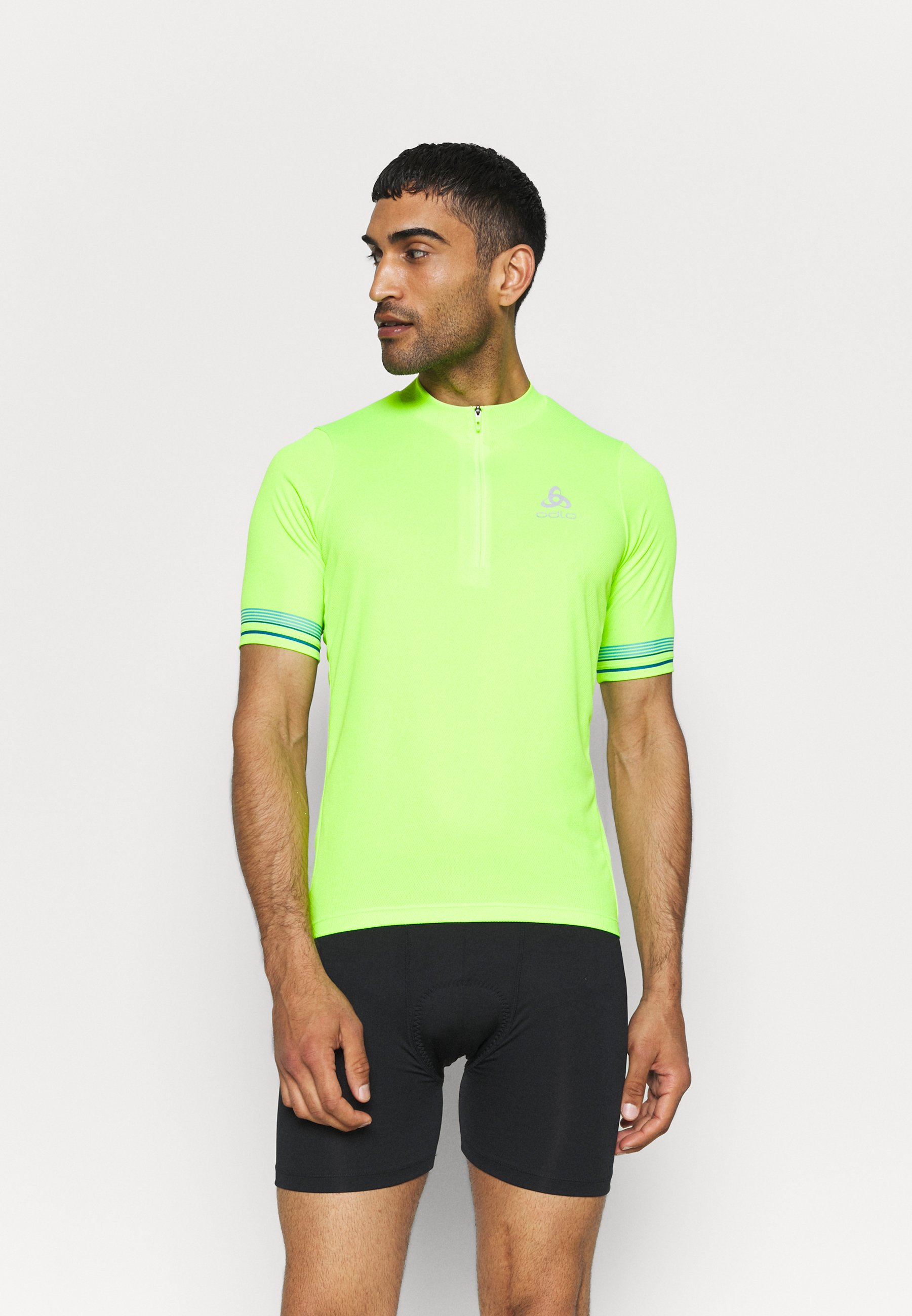 Men STAND UP COLLAR ZIP ESSENTIAL - Cycling Jersey