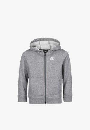 Sweater met rits - carbon heather / white