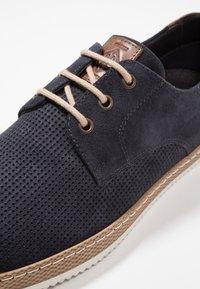 Pier One - Volnočasové šněrovací boty - dark blue - 5