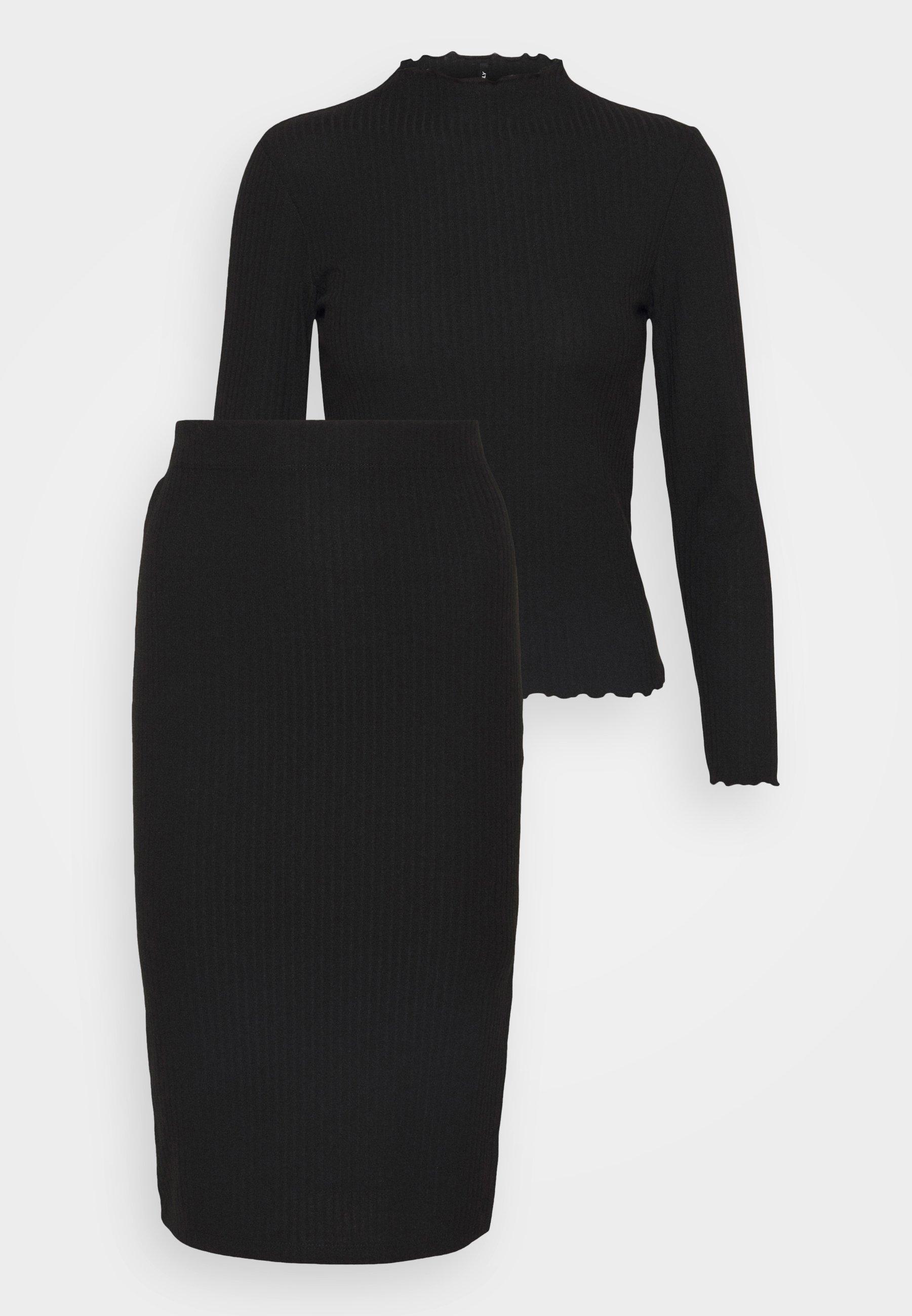 Damen ONLNELLA SKIRT SET - Langarmshirt