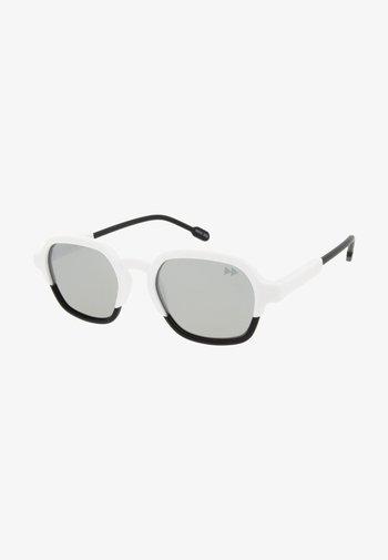 GLENN - Lunettes de soleil - matt white & matt black