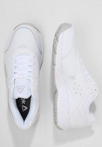 Reebok - WORK N CUSHION 3.0 - Neutral running shoes - white/steel - 1