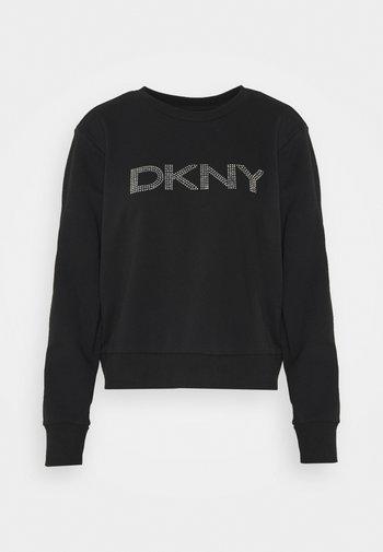 DIAMANTE CROPPED LOGO - Sweatshirt - black