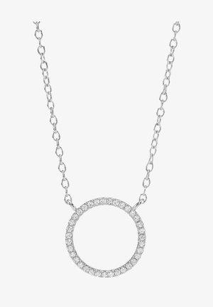 ANNANOR KETTE MIT KREIS-ANHÄNGER UND ZIRKONIA - Collier - silver