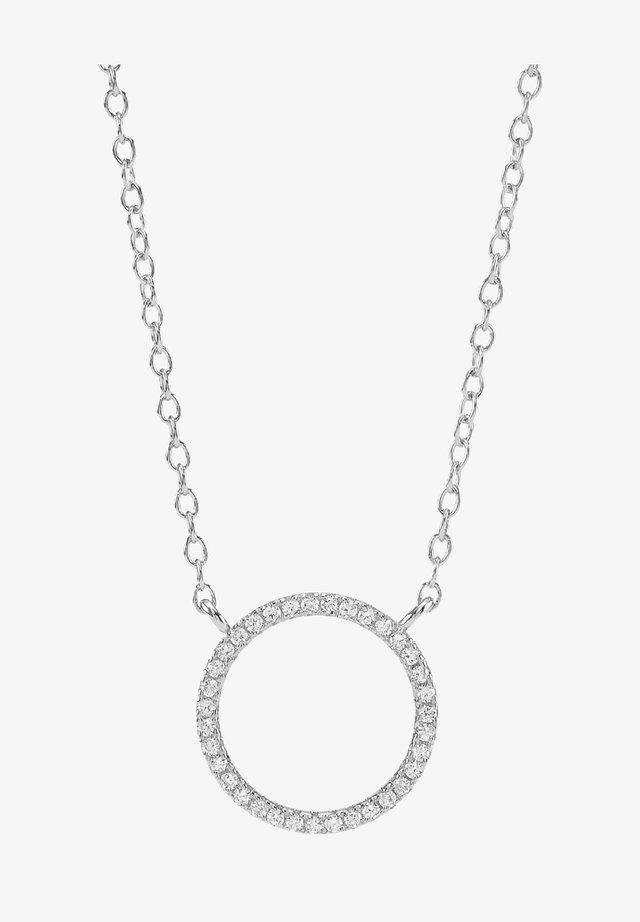 ANNANOR KETTE MIT KREIS-ANHÄNGER UND ZIRKONIA - Halskæder - silver