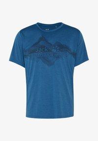 Jack Wolfskin - CROSSTRAIL GRAPHIC - Print T-shirt - indigo blue - 4
