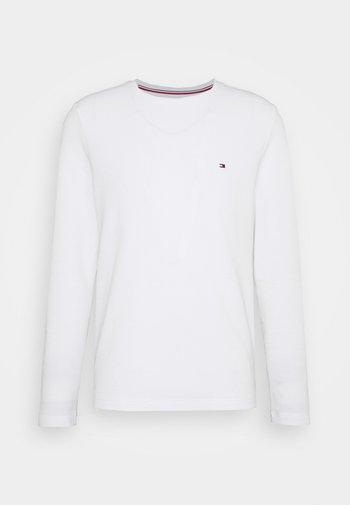 WAFFLE LONG SLEEVE TEE - Pitkähihainen paita - white
