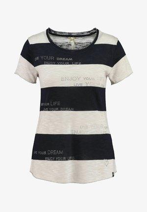 Print T-shirt - wollweiß/bleu
