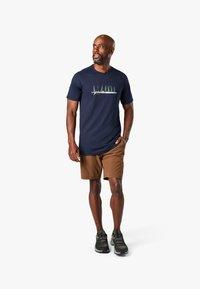 Smartwool - T-shirt print - deep navy - 0