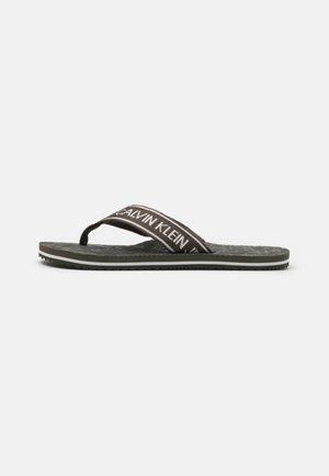 BEACH INSTITUTIONAL - T-bar sandals - dark olive