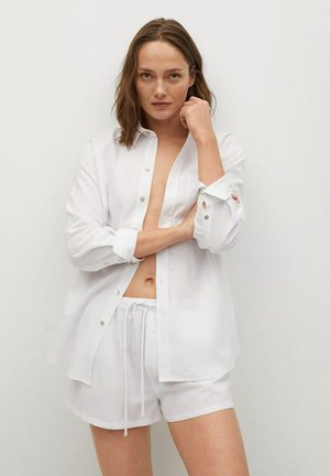 CLEAN - Button-down blouse - blanco roto