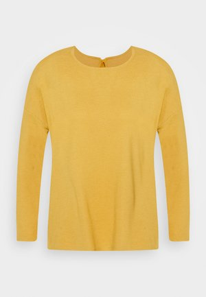 STRUCTURED TEE - Top s dlouhým rukávem - indian spice yellow