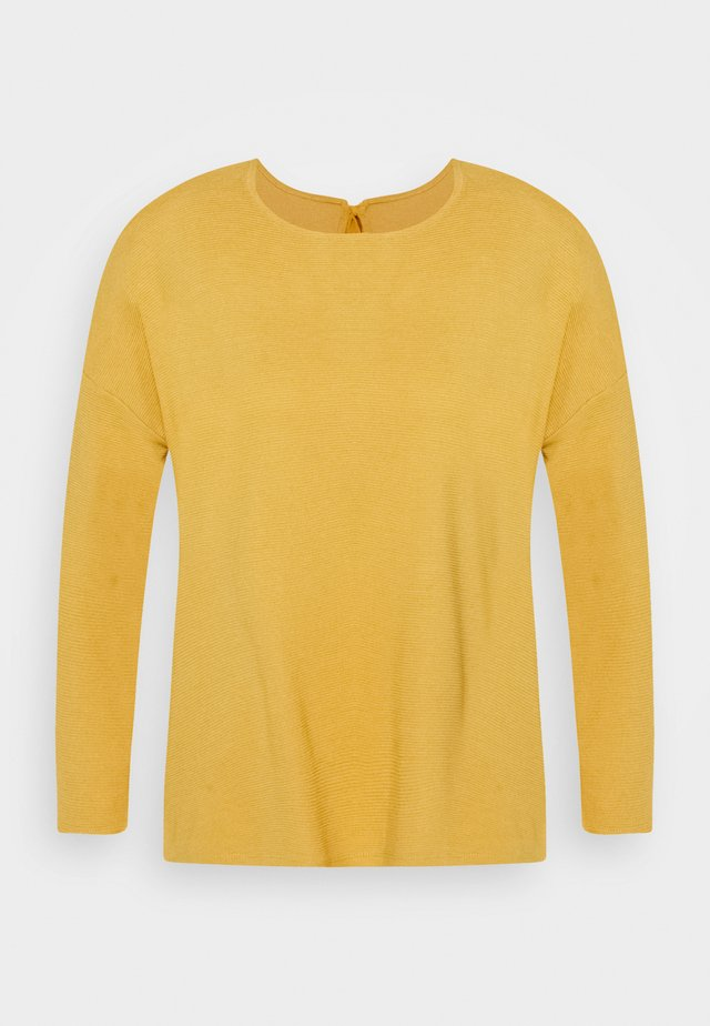 STRUCTURED TEE - Langarmshirt - indian spice yellow