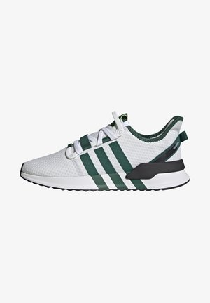 U_PATH RUN UNISEX - Matalavartiset tennarit - crystal white/collegiate green/core black