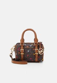 MICHAEL Michael Kors - BEDFORD LEGACYXS DUFFLE XBODY AIRPLANESMK SIG SEMI LUX SM - Handtas - brown multi-coloured - 1