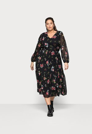 VMPETRA ANCLE DRESS CURV - Maxi dress - black/petra