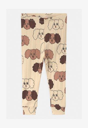 FLUFFY DOG UNISEX - Leggings - Trousers - beige