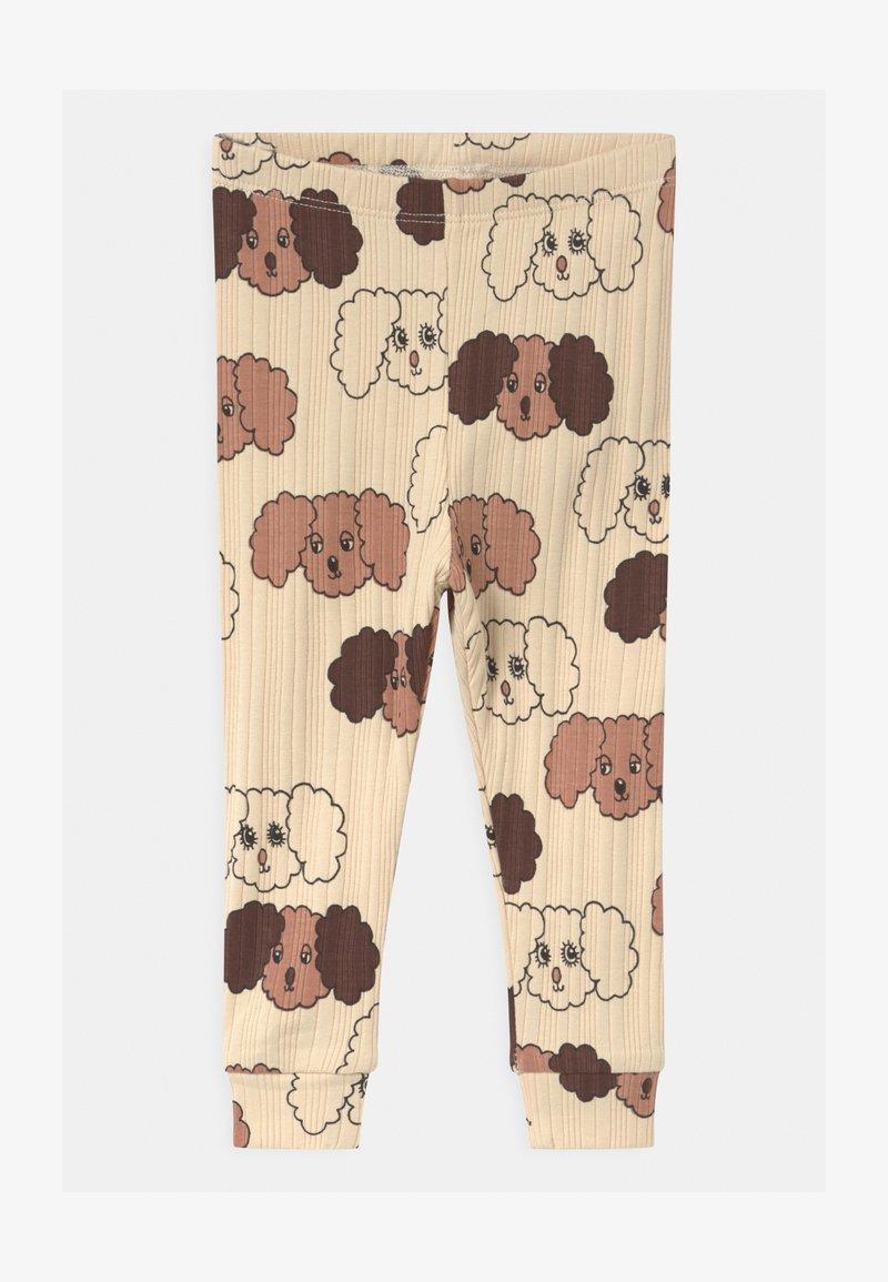 Mini Rodini - FLUFFY DOG UNISEX - Leggings - Trousers - beige