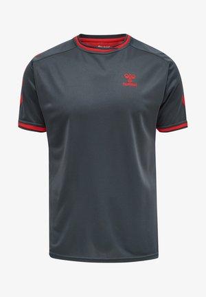 T-shirts print - ebony flame scarlet