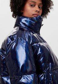Bershka - Zimní bunda - dark blue - 3