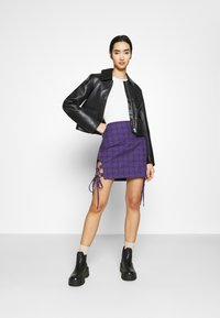 The Ragged Priest - CHECK MINI SKIRT - Minihame - purple - 1