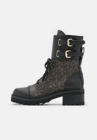 DKNY - BART COMBAT BOOT BUCKLE - Lace-up ankle boots - brown/black - 1