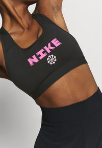 Nike Performance - BAND BRA - Sport BH - black/hyper pink/pink foam