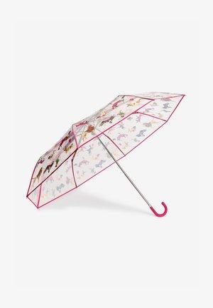 MIT HUNDEPRINTUND GEBOGENEM GRIFF - Umbrella - red