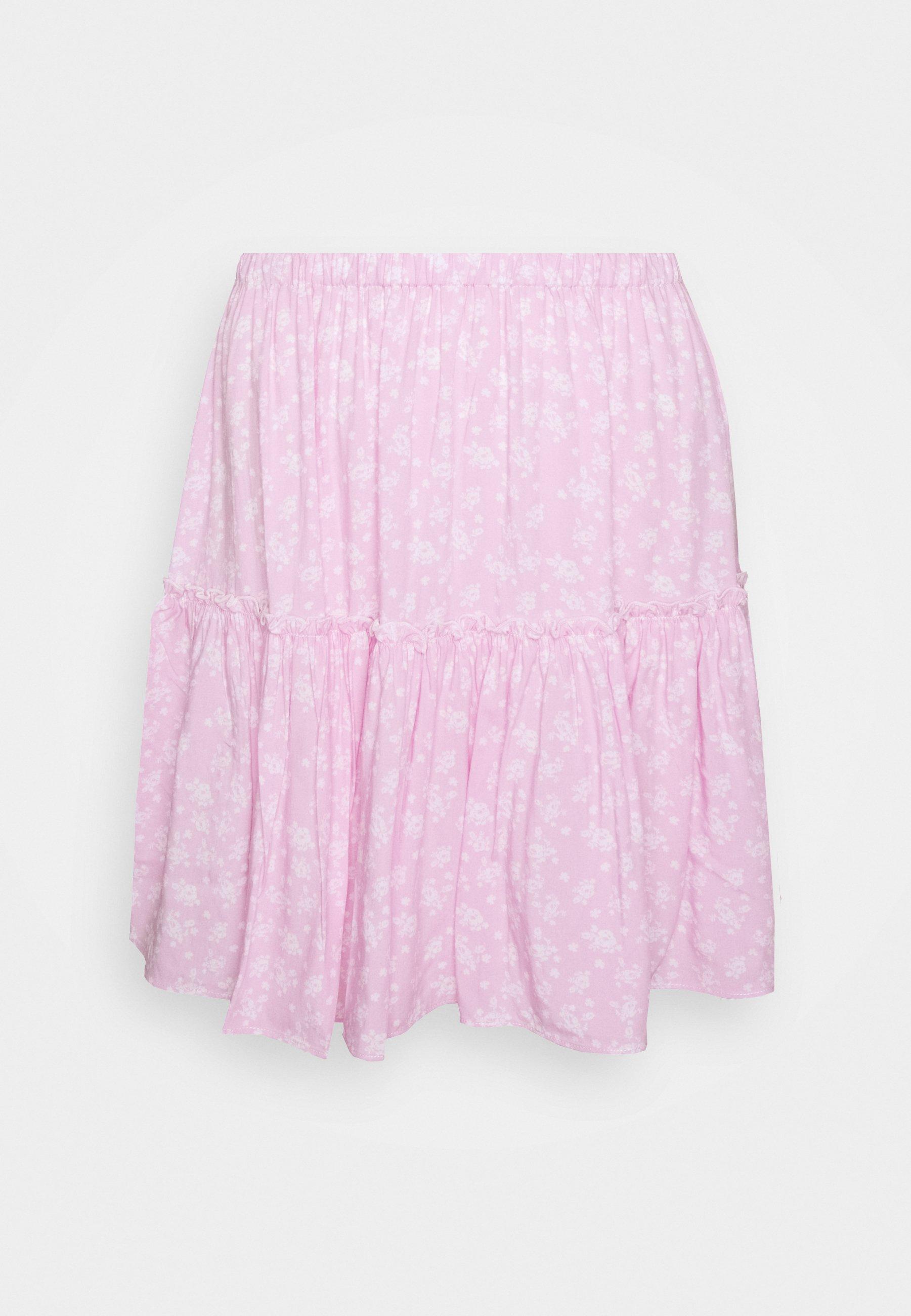 NA-KD PAMELA REIF FRILL SKIRT - A-snit nederdel/ A-formede nederdele - cloud cream -  9n3yu