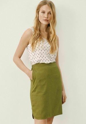 RHAPSOPW - A-line skirt - olive drab