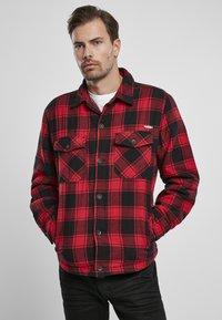 Brandit - Denim jacket - red/black - 0