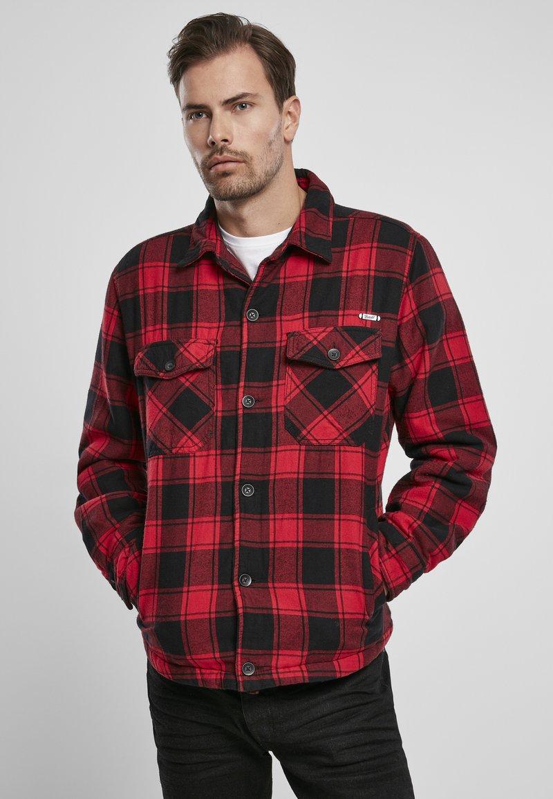 Brandit - Denim jacket - red/black