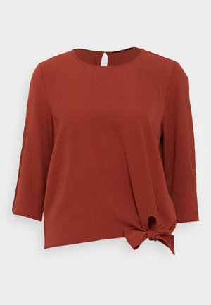 ONLNOVA LUX KNOT SOLID - Blusa - brown