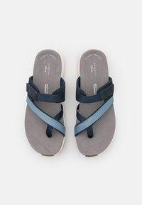 Clarks - SOLAN SURF - Sandalias de dedo - navy - 4