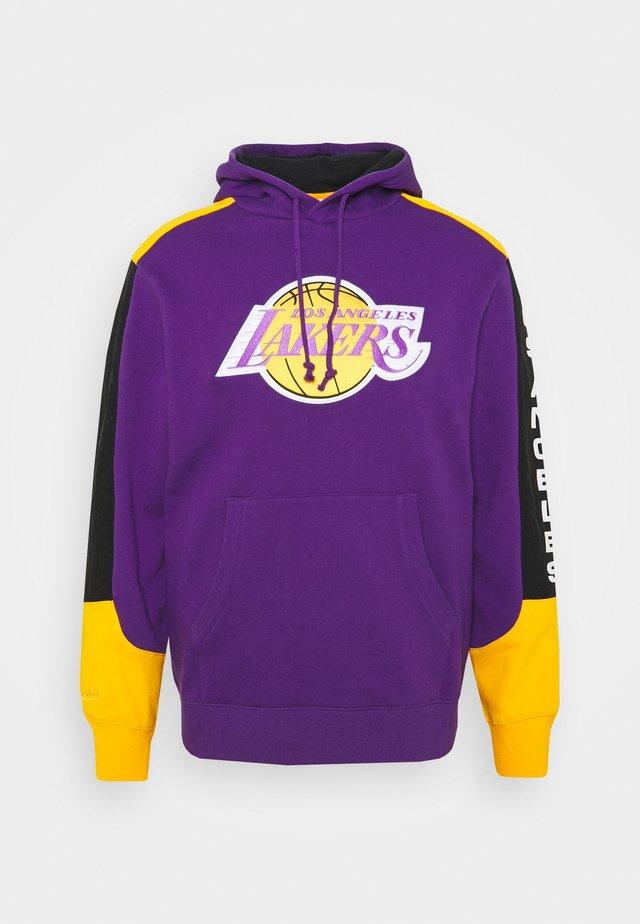 NBA LOS ANGELES LAKERS FUSION HOODY - Hoodie - purple