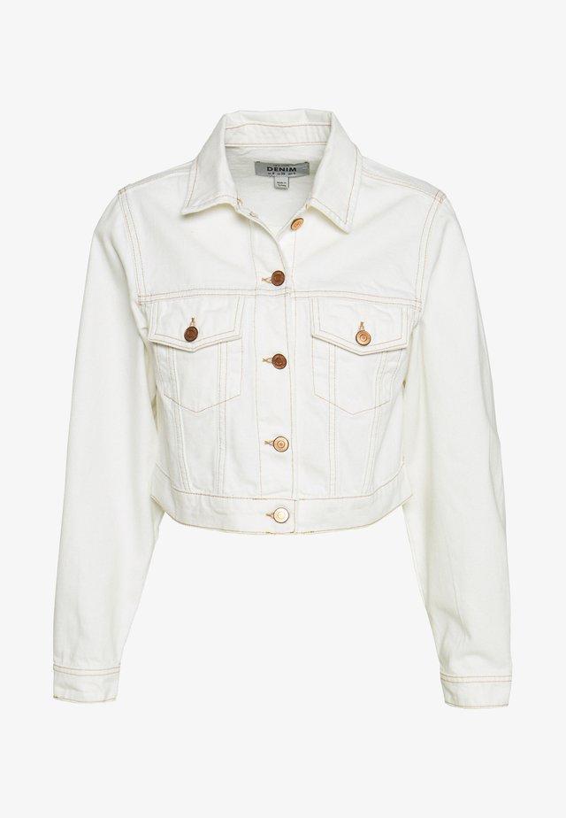 MISSY CROP JACKET - Denim jacket - off white