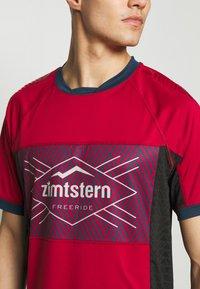 Zimtstern - TECHZONEZ MEN - Printtipaita - jester red/french navy/glacier grey - 4
