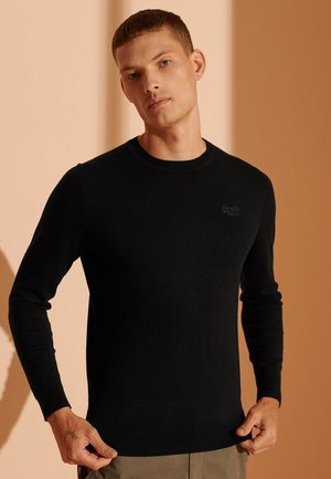 ORANGE LABEL CREW - Pullover - black