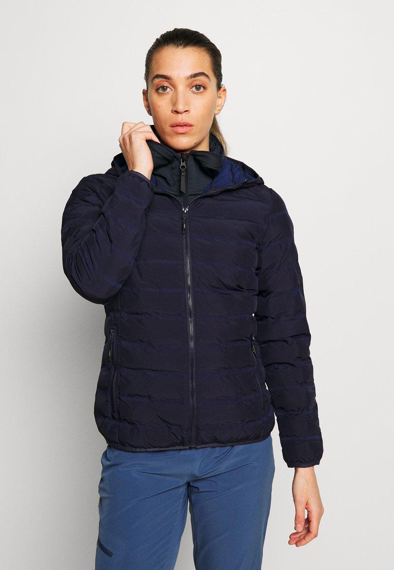 CMP - WOMAN JACKET FIX HOOD - Outdoor jakke - dark blue