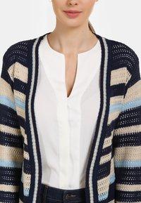 usha - Cardigan - beige/dark blue - 3