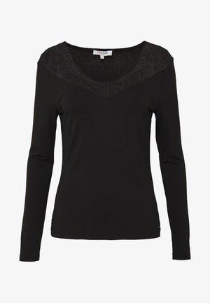 TRACE - T-shirt à manches longues - noir