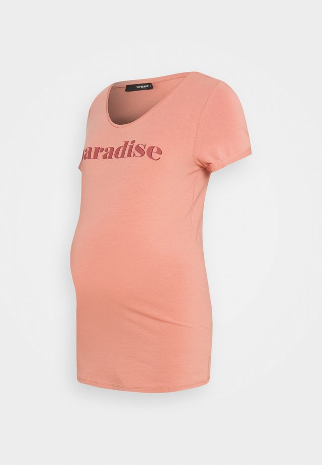 TEE PARADISE - T-shirt imprimé - rosette