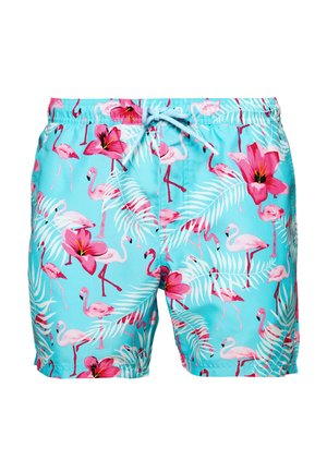 FLAMINGO PRINT - Swimming shorts - blue