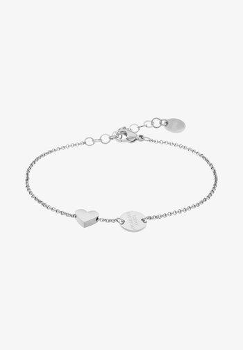 ARMKETTCHEN MIT ANHÄNGERN EDELSTAHL 20CM - Bracelet - silver-coloured