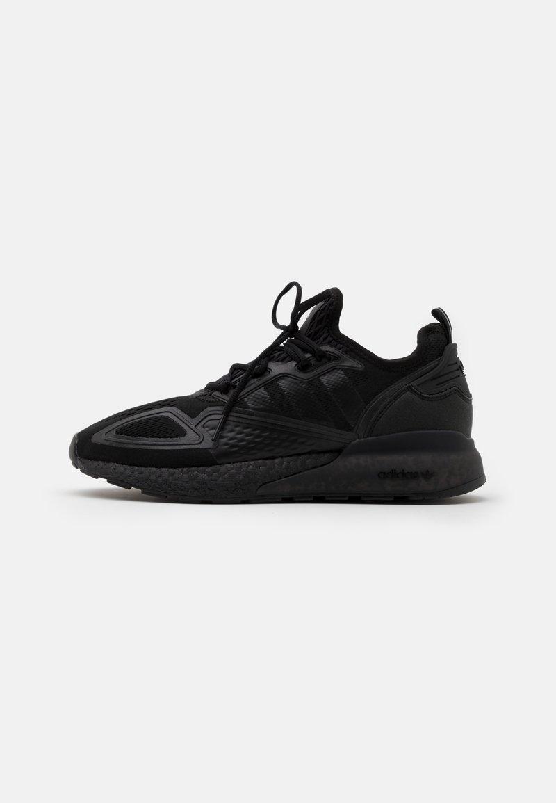 adidas Originals - ZX 2K BOOST UNISEX - Sneakers basse - core black/shock pink